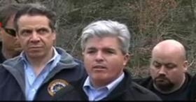 County Executive Bellone and Gov. Cuomo discuss the brush fires with the media