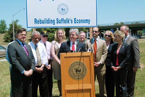 Steve Bellone and Suffolk County Legislators